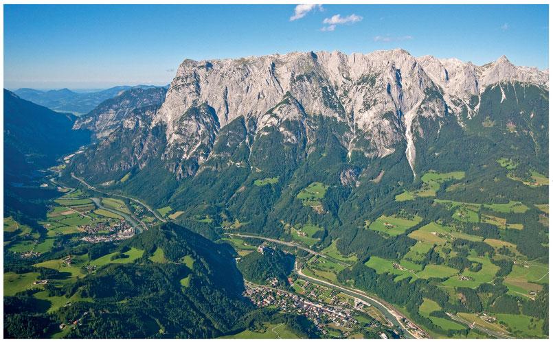 Das Tennengebirge von oben ein Paradies für Paragleiter und Tandemflieger