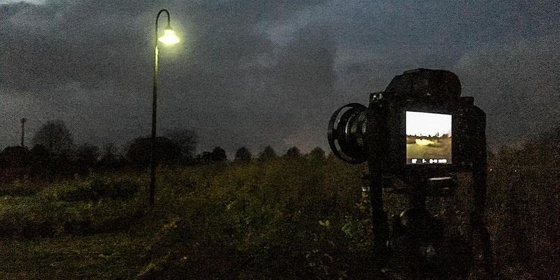 Im Test: Landschaftsfotografie, Monitoransicht SONY Alpha 7s2 und ZEISS Biogon-M 2,0/35 mm sowie NOVOFLEX NEX/LEM-Adapter. Foto: Klaus Schoerner