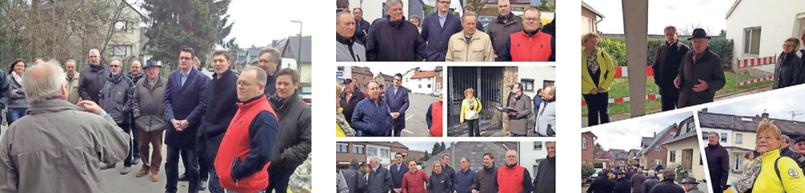 Die CDU Stolberg im Gespräch mit interessierten Bürgern. Hier beim Ortsteilspaziergang in Werth.