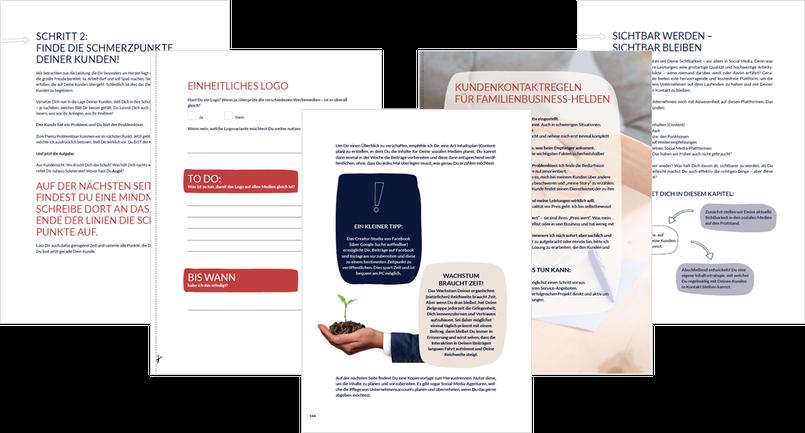 Innenseiten Workbook zum Buch Business-Held von Susanne Burzel
