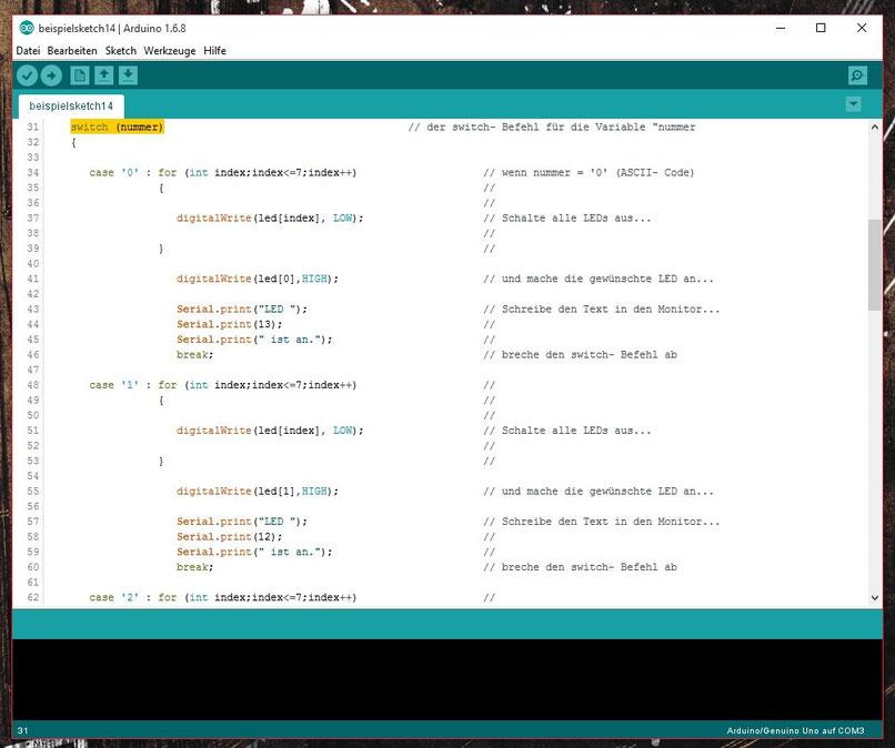 Arduino Tutorial Der switch- Befehl - Werde zum Maker mit MyMakerStuff