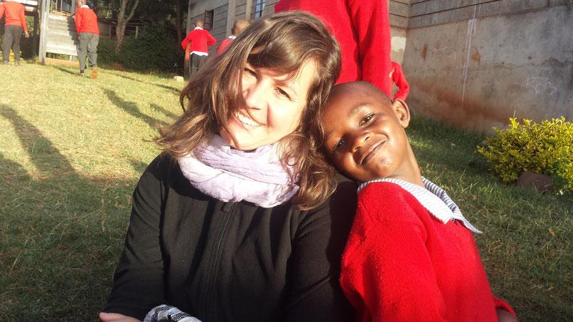 Mit meinem kenianischen Patenkind Virginia.