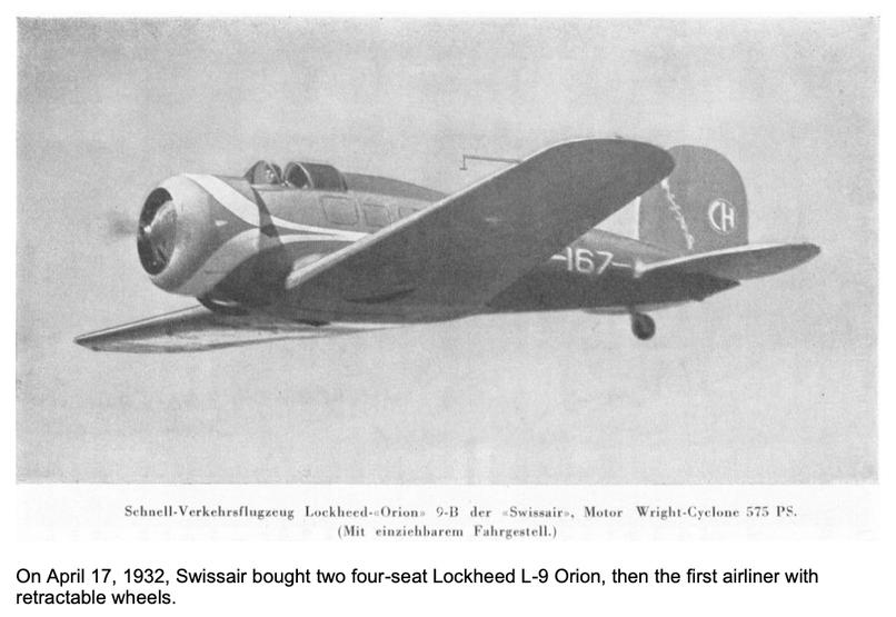 4-plätzige Lockheed L-9 Orion mit eingezogenen Rädern   Quelle: The 7 Most Endangered 2020, Europanostra
