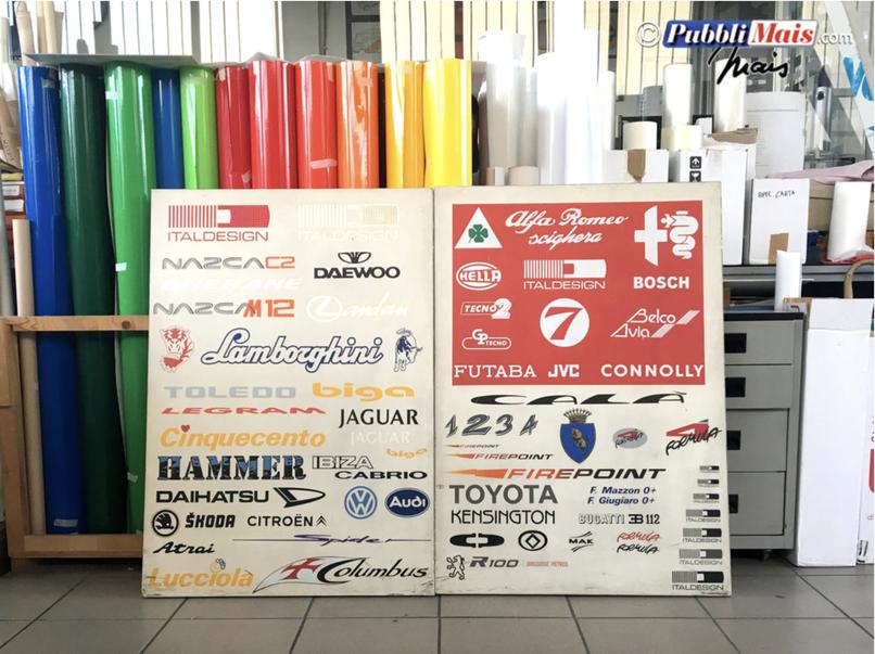 I loghi degli adesivi realizzati per Italdesign