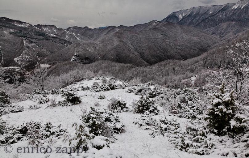 Paesaggio quasi lunare nel Parco Nazionale subito dopo la nevicata di fine gennaio