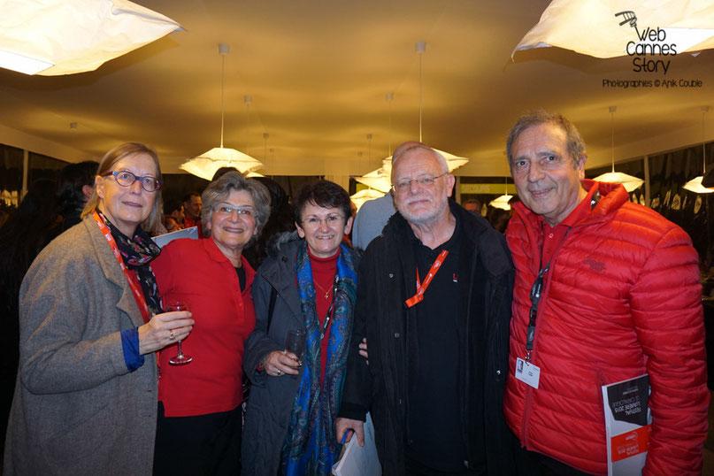 Mes amis bénévoles dont Fernand Berron et son épouse, au centre - Clôture du Festival Lumière - Lyon - Octobre 2015 - Photo © Anik COUBLE
