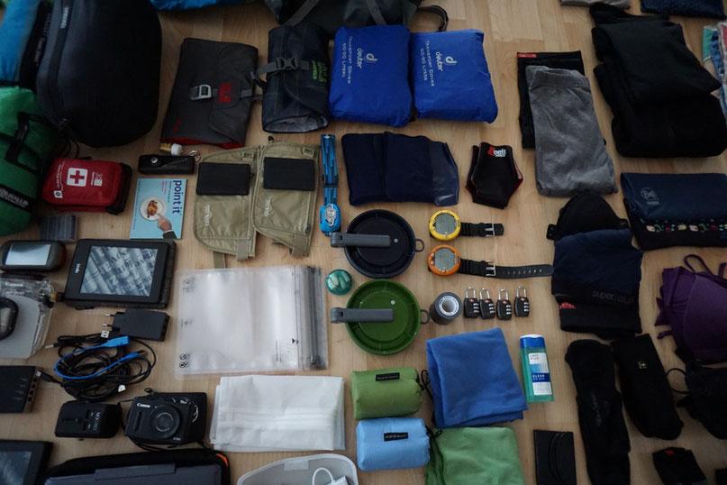 Packen für die Weltreise.