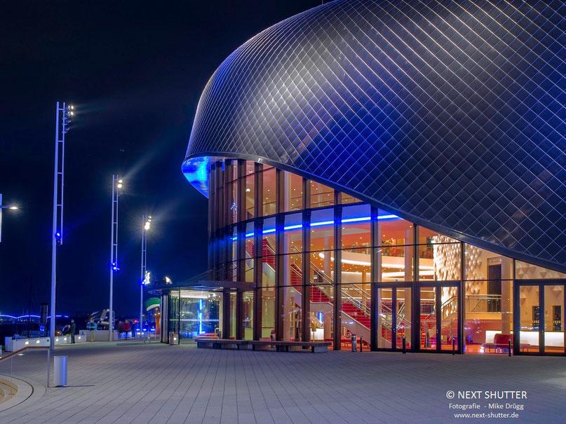"""Eines der beiden Theater im Hafen, hier das Foyer des Theaters in dem """"Das Wunder von Bern"""" gezeigt wird."""