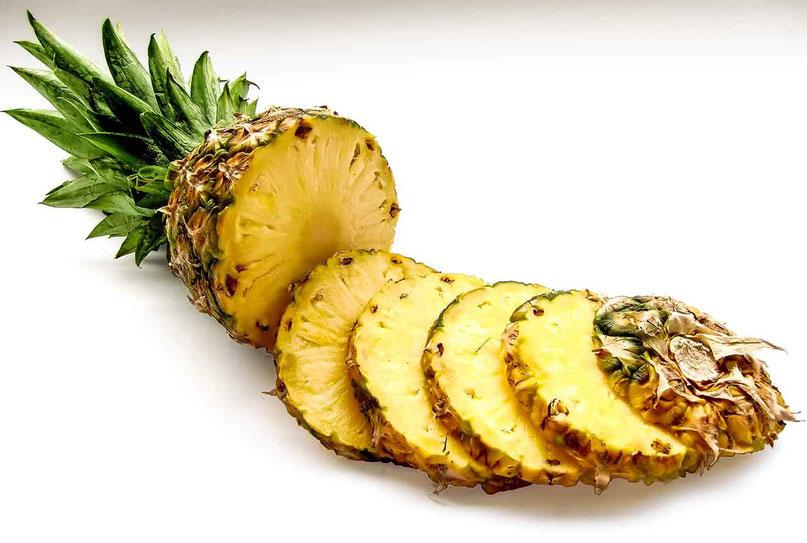 Naturseife Inhaltsstoffe - Ananas in Scheiben