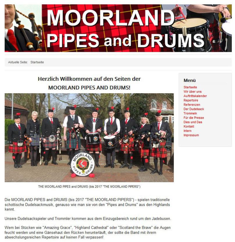 "Die MOORLAND PIPES and DRUMS (bis 2018 ""THE MOORLAND PIPERS"")"