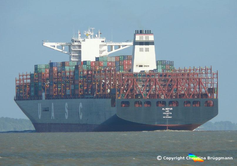 UASC Containerschiff AL NEFUD