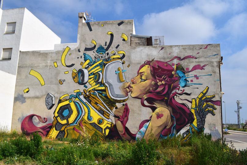 street art Isaac Mahow, Torreblanca