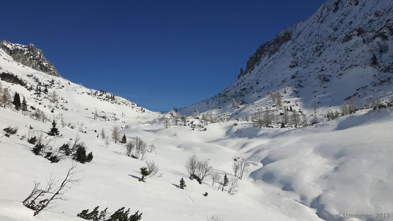 Oberhalb der Rinnbergalm (Animoshütte)