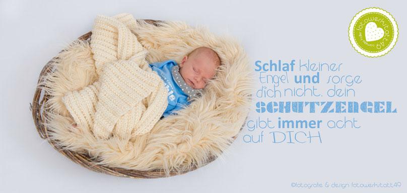 newborn fotografie baby fotowerkstatt49 Schlaf kleiner Engel und sorge dich nicht, dein Schutzengel gibt immer acht auf dich