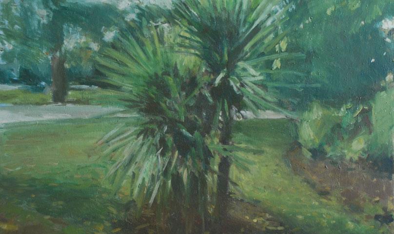 Nicolas-Borderies-Oil-Painting-on-canvas-92x73cm-Ficus-Grand-Rond-Peinture à l'huile-Fine-Art-Beaux-Arts