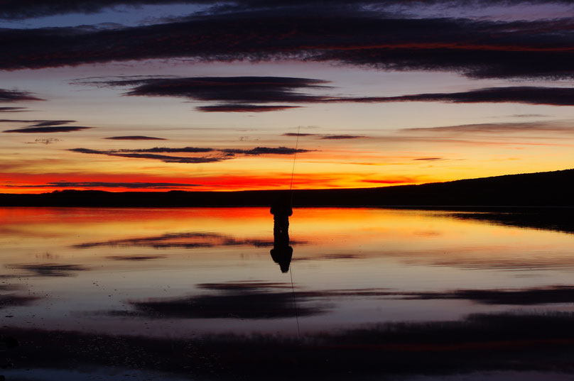 Sonnenuntergang am Rio Gallegos