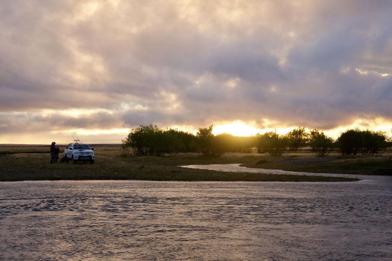 Sunset on the Rio Gallegos