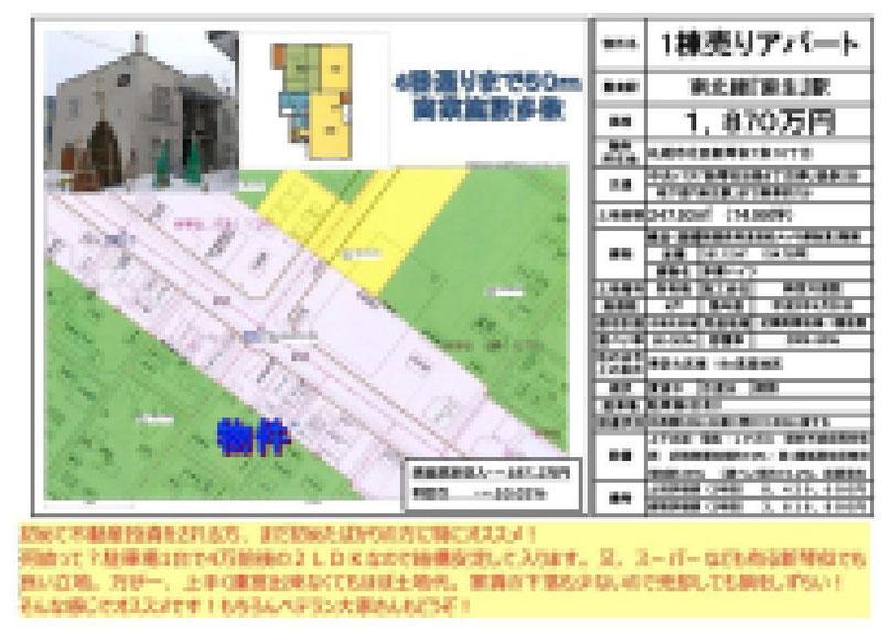 2021.02.09【売アパート】北区2LDK 1,870万円 他3物件 モザイク済