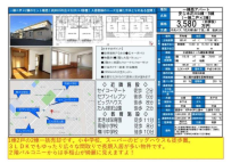 2021.03.09【売アパート】花川3LDK 3,580万円 他4物件 モザイク済