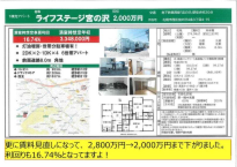 2020.11.10【売アパート】西区1DK・2DK 2,000万円 他1物件 モザイク済