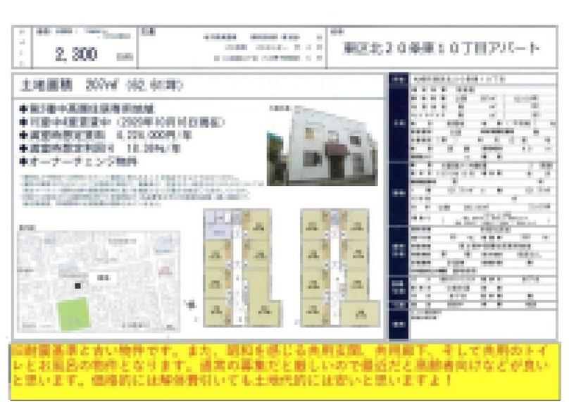 2021.04.20【売アパート】東区1R 2,300万円 他7物件 モザイク済
