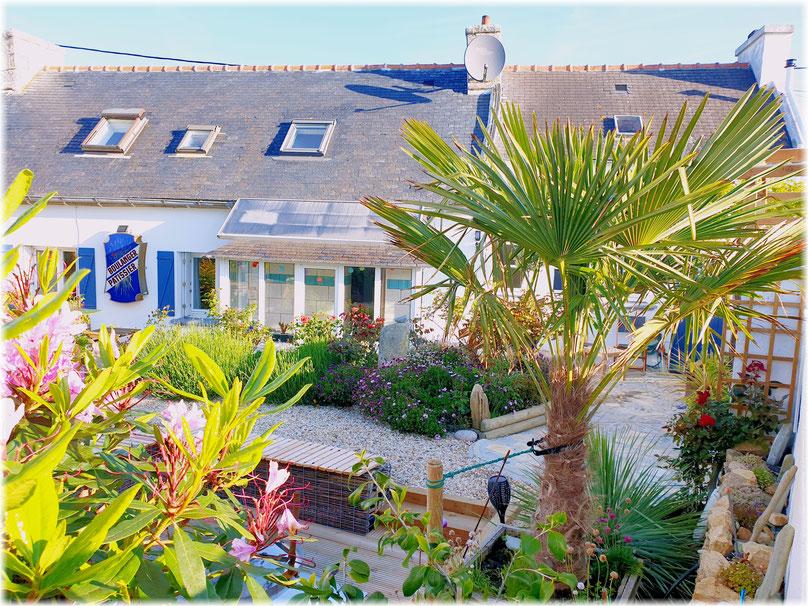 Günstiges Ferienhaus in der Bretagne / Finistere, geschlossener Garten