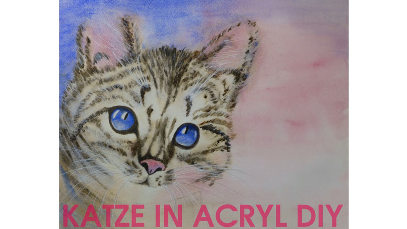 Inspiration - Katze in Acryl malen - DIY-Projekt
