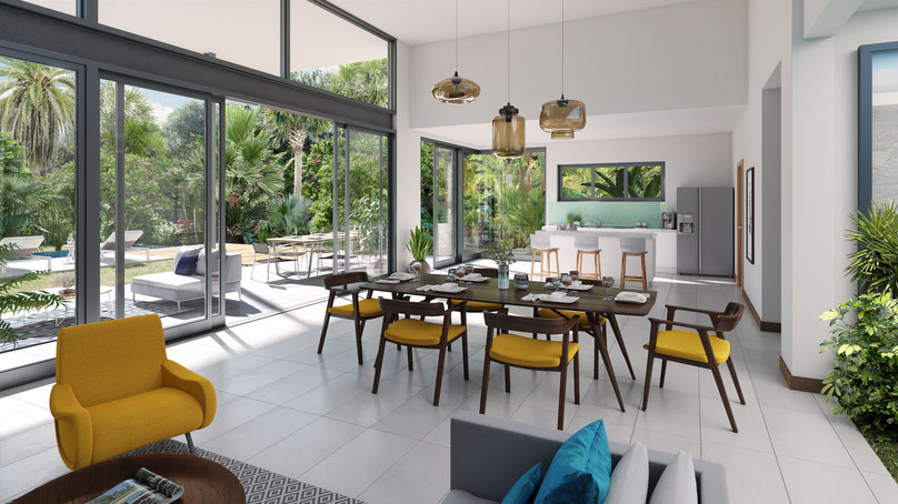 VILLA ILE MAURICE : AKASHA programme villas Haut de gamme Ouest bord de mer