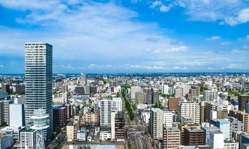 札幌の町並み