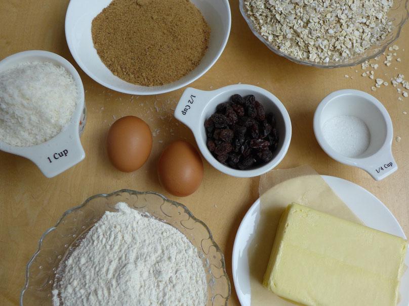 Zutaten für die Hafer-Cookies