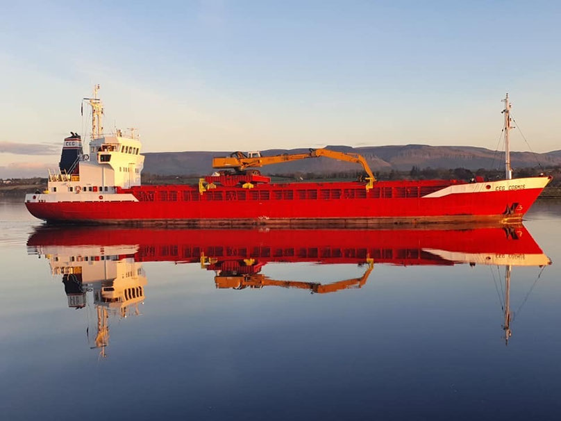 MV CEG COSMOS vessel in the port of Hamburg