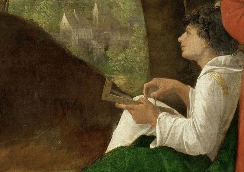 """""""Il giovane filosofo"""", particolare de """"I tre filosofi"""" di Giorgione da Castelfranco (1478-1510)"""