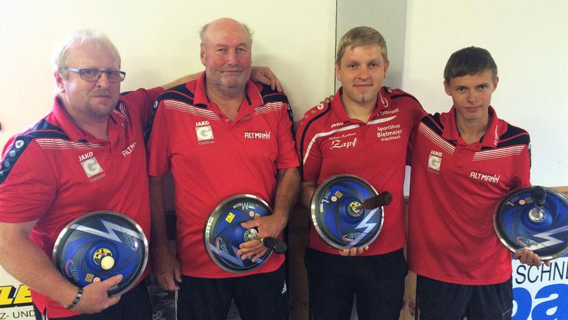 Sieger SG Ottenzell/Altrandsberg mit Ewald Schmid, Klaus Emberger, Manuel Schmid u. Thomas Meindl