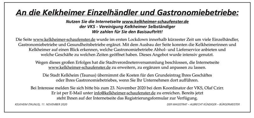 Quelle: Kelkheimer Amtsblatt, KW 46 (14.11.2020)