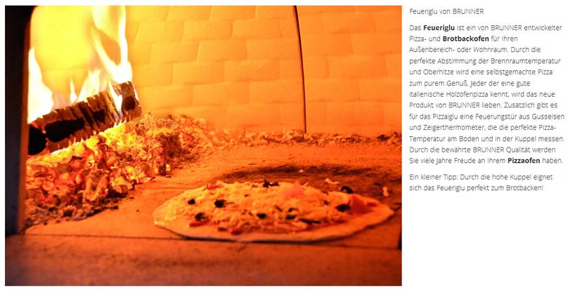 Brunner Pizzaofen von Brunner bei Nordfeuer