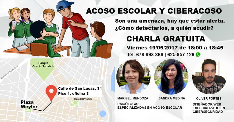 Charla sobre acoso escolar y ciberacoso en Santa Cruz de Tenerife