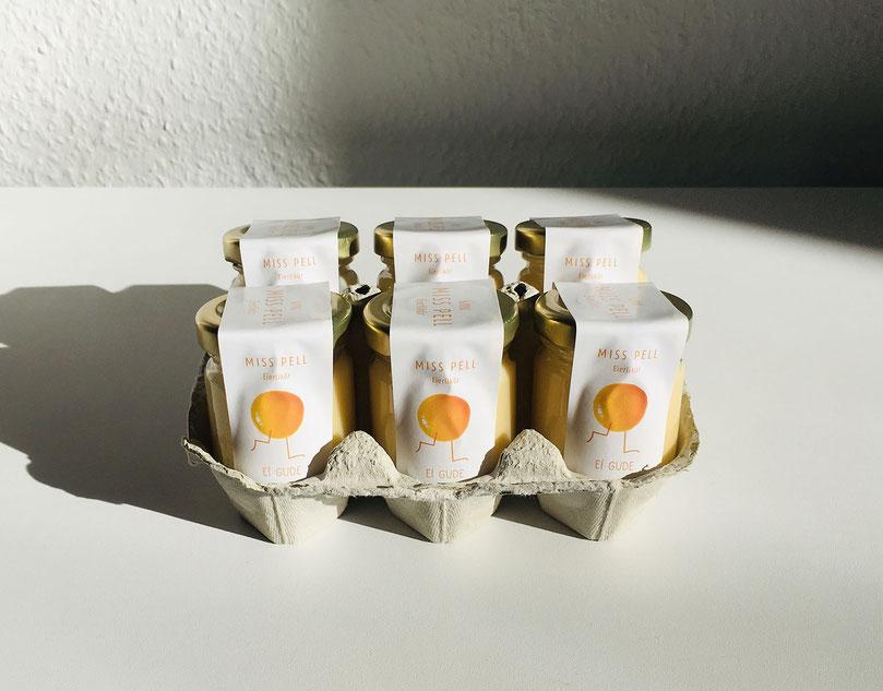 6 Eierlikör Mini im Glas