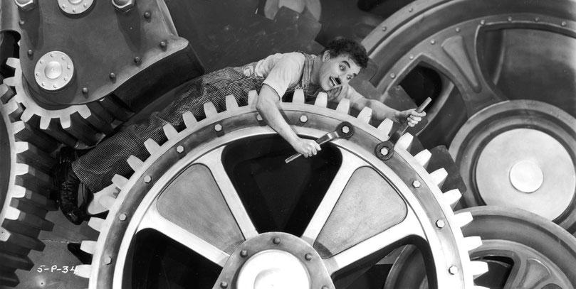 Charles Chaplin, les temps modernes