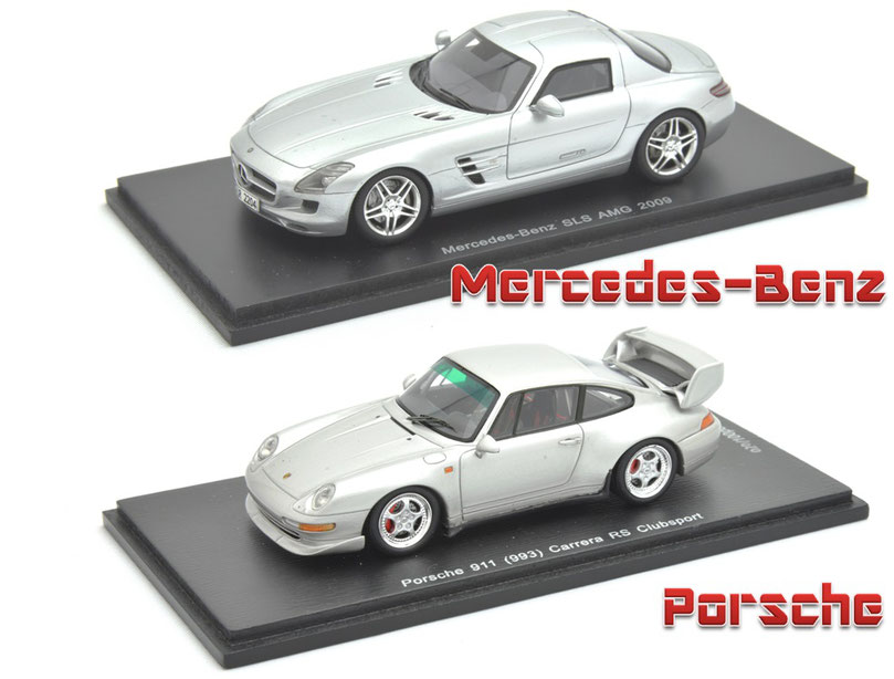 1/43 Mercedes-Banz SLS AMG, Porsche 911 (993) Carrera RS Clubsport, メルセデスベンツ, ポルシェ, カレラRS, クラブスポーツ