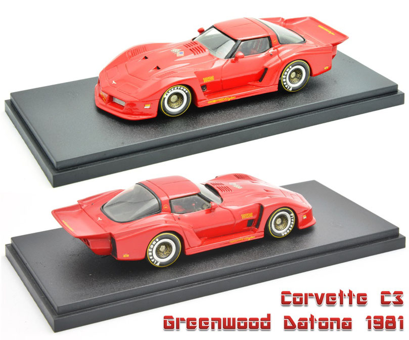 1/43 Corvette Greenwood Datona / コルベット・グリーンウッド・デイトナ 1981年