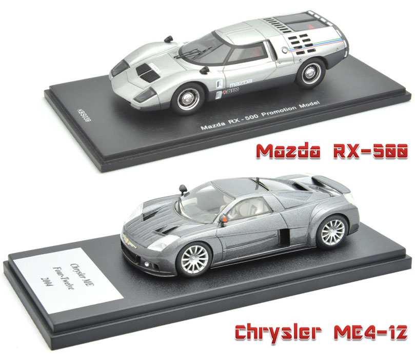 1/43 Mazda RX-500, Chrysler ME4-12, マツダ RX-500, クライスラー ME4-12