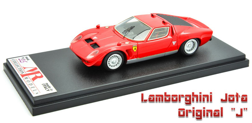 "1/43 Lamborghini Jota Original "" J "" by Bob Wallas / ボブ・ウォレス製作のランボルギーニ・イオタ・オリジナルJ 1970年"