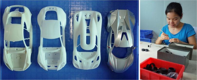 レジン製 精密モデルカー 製造工程 フロンティア―ト社