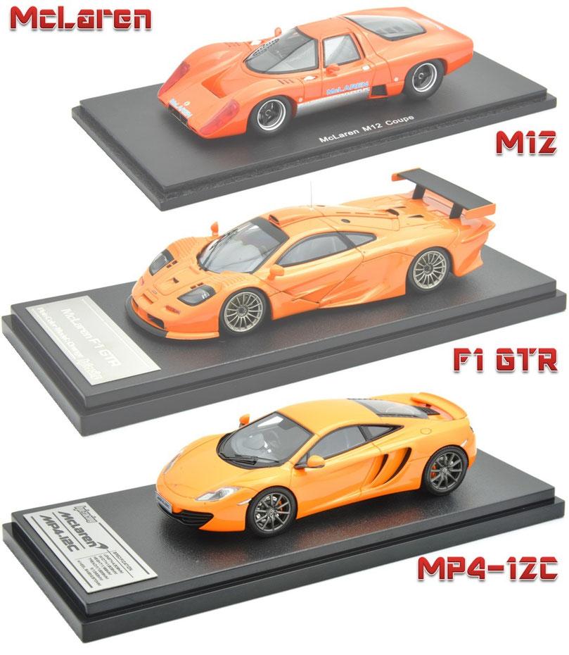 1/43 McLaren M12, McLaren F1 GTR, McLaren Mp4-12C, マクラーレン