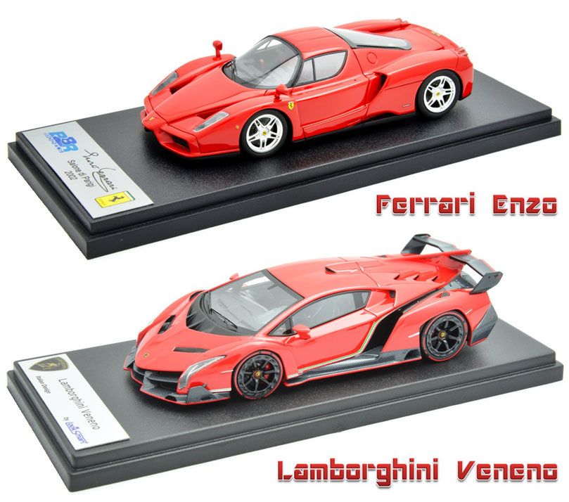 1/43 Ferrari Enzo Ferrari, Lamborghini Veneno, フェラーリ・エンツォフェラーリ、ランボルギーニ・ヴェネーノ
