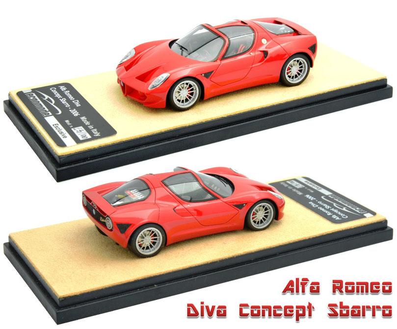 1/43 Alfa Romeo Diva Concept Sbarro 2006 アルファ・ロメオ・ディーヴァ・コンセプト・スバッロ 2006年