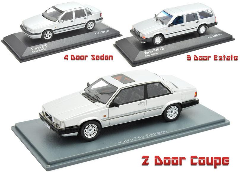 1/43 Volvo 780 Bertone 740 GL 850 Minichamps Spark ボルボ 780 ベルトーネ 740 GL 850 ミニチャンプス スパーク