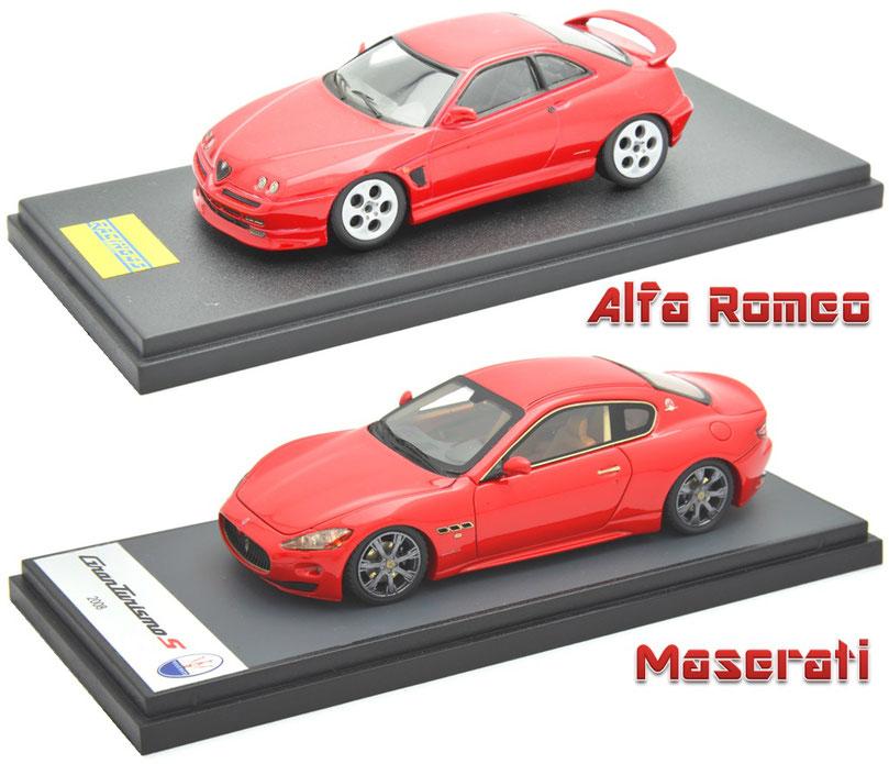 1/43 Alfa Romeo GTV, Maserati Gran Turismo S, アルファロメオGTV, マセラティ・グランスーリズモS