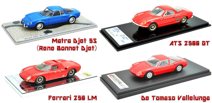 1/43 Matra Djet 5S, ATS 2500 GT, Ferrari 250 LM, De Tomaso Vallelunga, マトラ・ジェット, フェラーリ 250LM, デ・トマソ・ヴァレルンガ