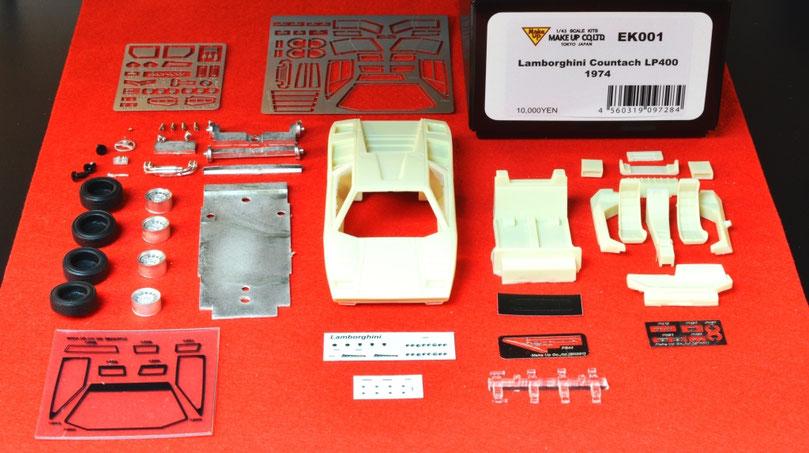 1/43 Lamborghini Countach LP400 1974 Kit Make-up ランボルギーニ・カウンタック LP400 1974年 メイクアップ アイドロン キット